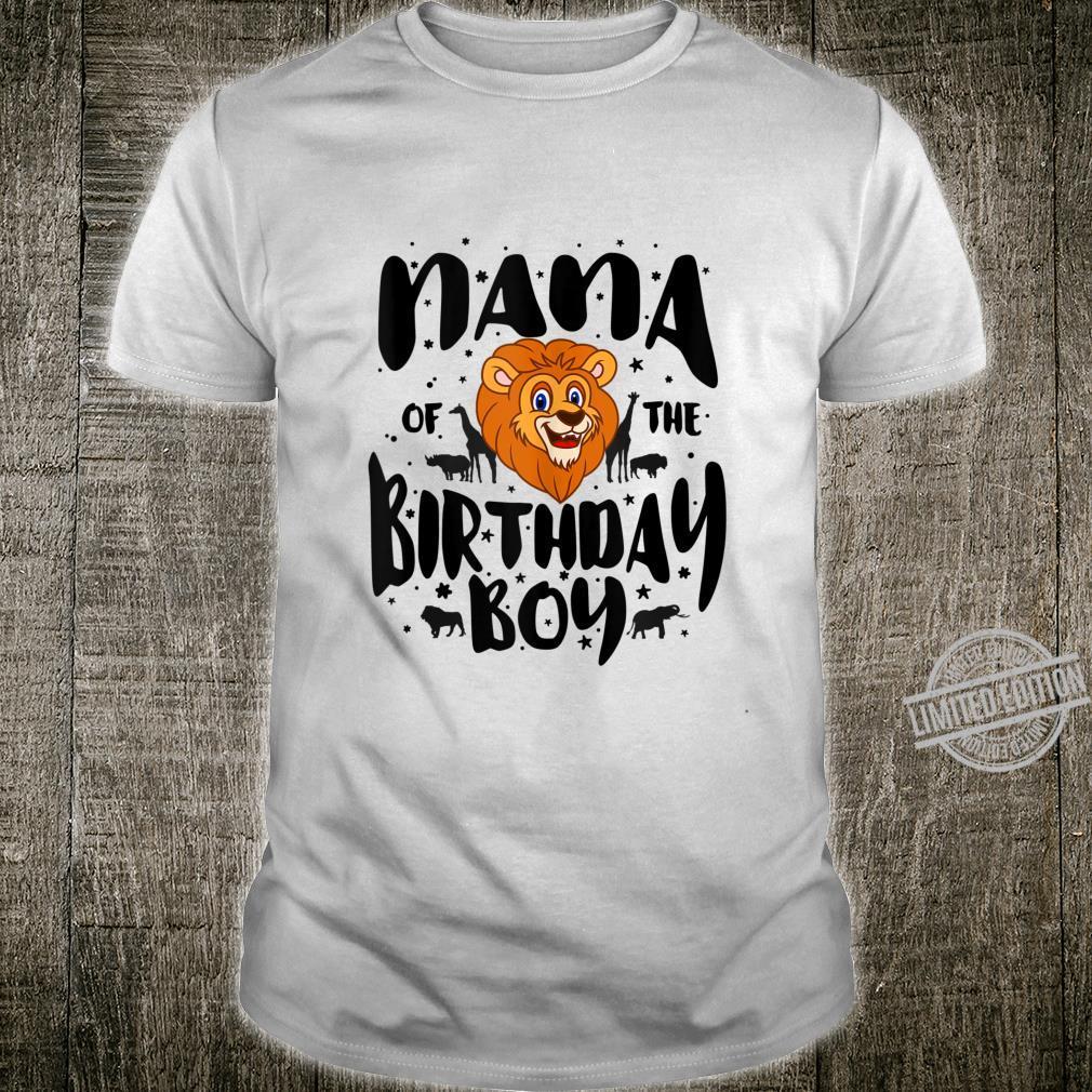 Nana of the Birthday Boy cute jungle safari animals Shirt