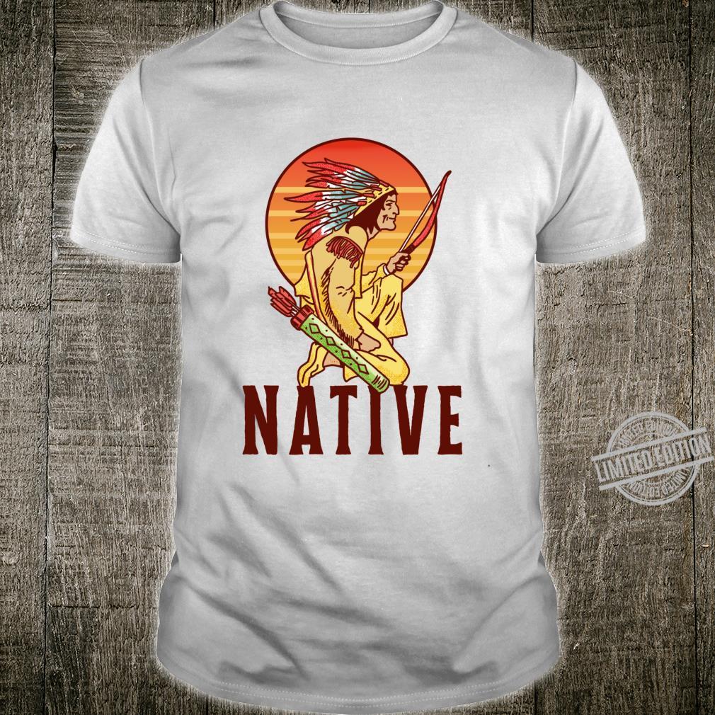 Native Vintage Native American Retro Iroquois First Nation Langarmshirt Shirt