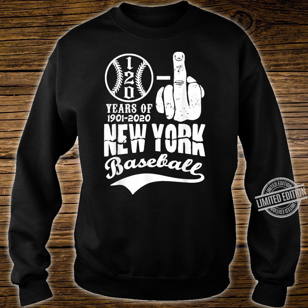 New York 1901 1903 Anniversary With Middle Finger Baseball Shirt sweater