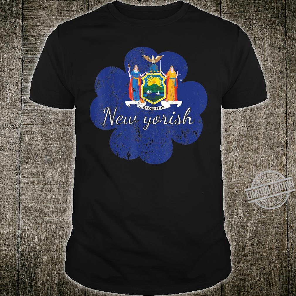 New York shirt 4 leaf clover shirtfunny st patricks day Shirt