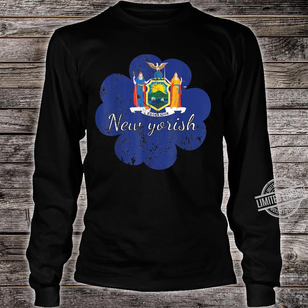 New York shirt 4 leaf clover shirtfunny st patricks day Shirt long sleeved