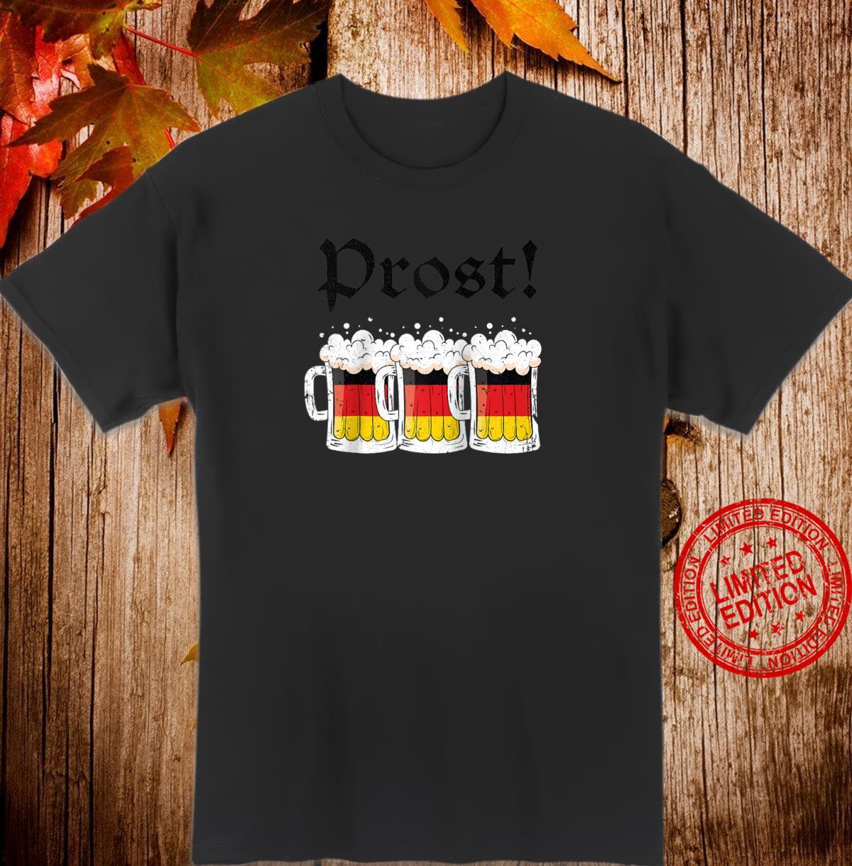 Oktoberfest Shirt Drinking Team German Flag Prost Shirt