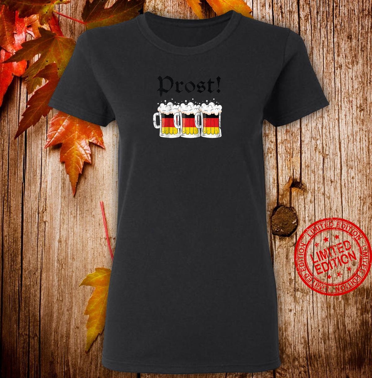 Oktoberfest Shirt Drinking Team German Flag Prost Shirt ladies tee