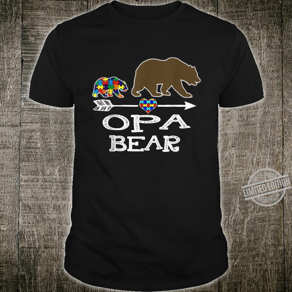 Opa Bear Autism Awareness Autism Baby Bear Shirt