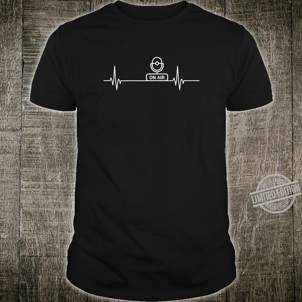 Podcast Herzschlag Puls Humor Podcasting Shirt