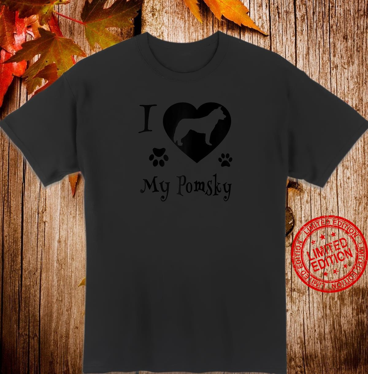 Pomsky Shirt Design for Pomsky Dogs Shirt