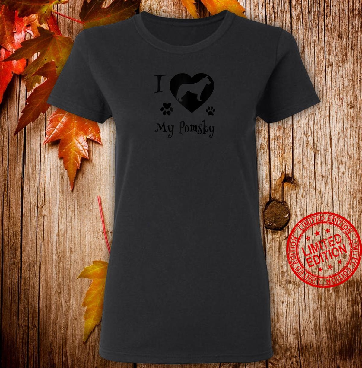 Pomsky Shirt Design for Pomsky Dogs Shirt ladies tee