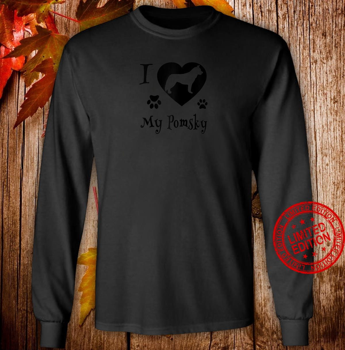 Pomsky Shirt Design for Pomsky Dogs Shirt long sleeved