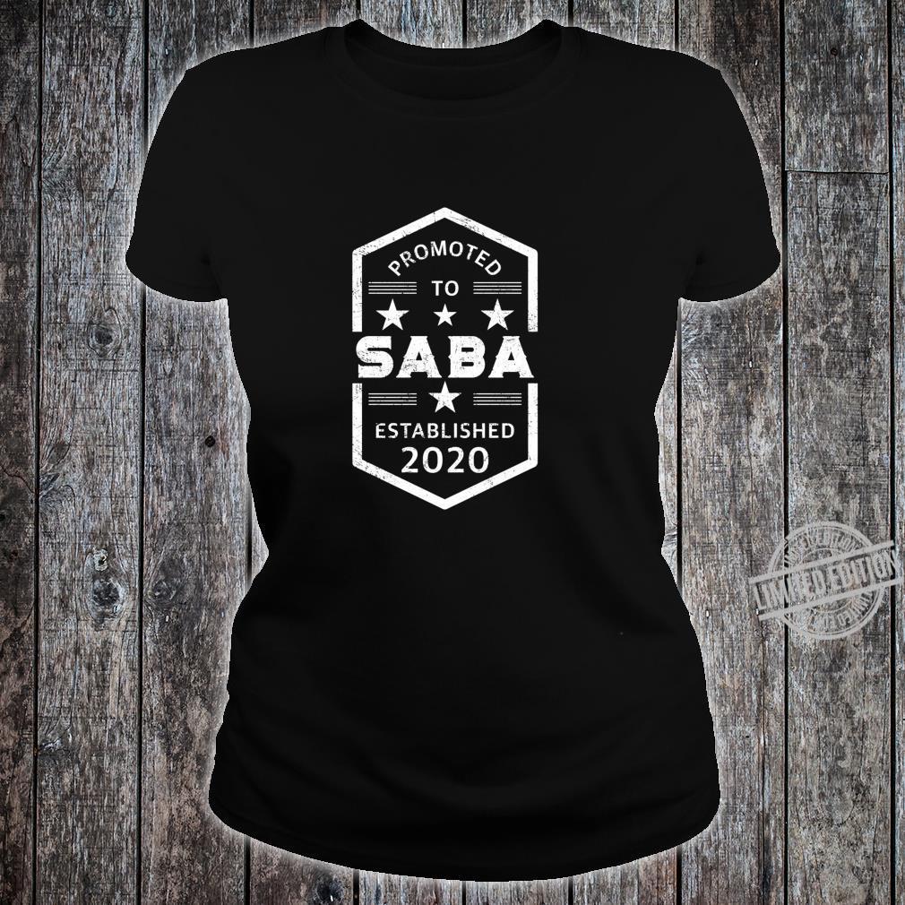 Promoted to Saba 2020 Established 2020 Shirt ladies tee