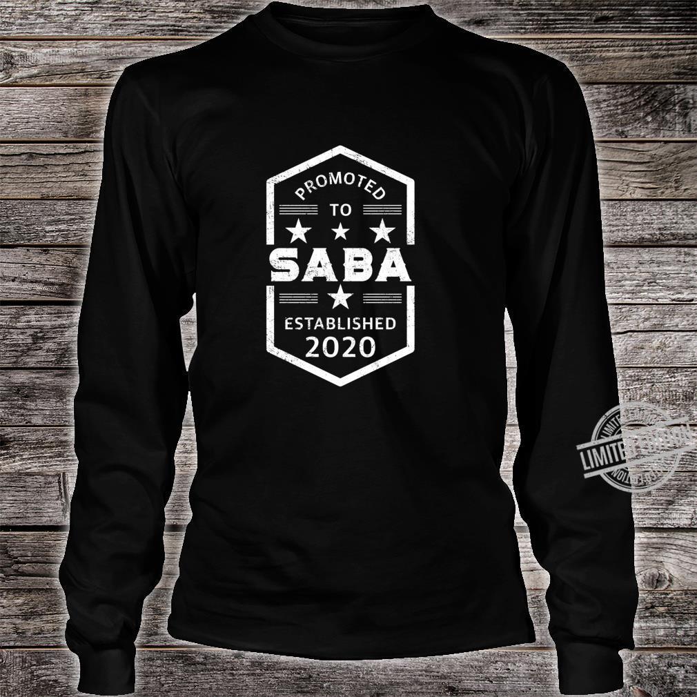 Promoted to Saba 2020 Established 2020 Shirt long sleeved