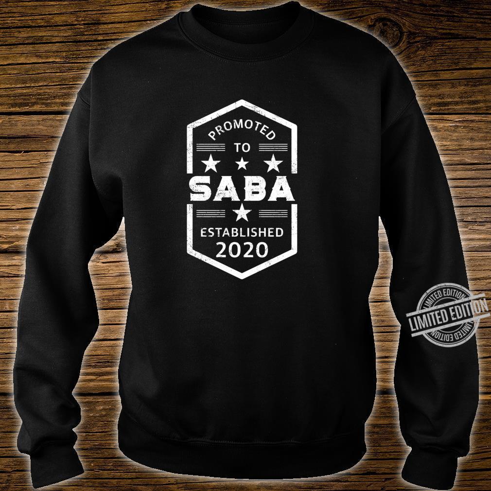 Promoted to Saba 2020 Established 2020 Shirt sweater