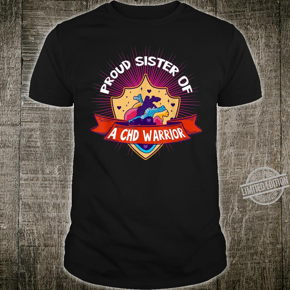 Proud Sister Of A CHD Warrior Anatomical Heart Shirt