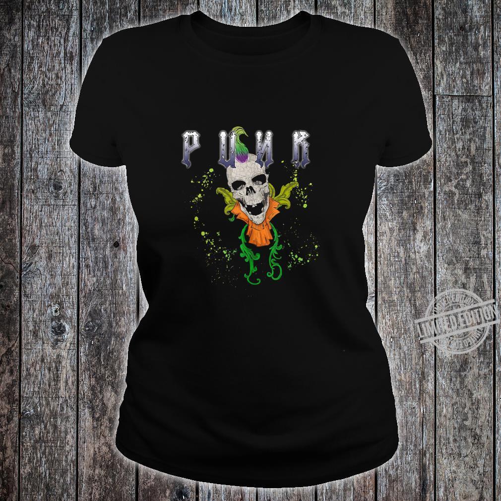 Punk Rock Skull Skeleton Rocker Fans Shirt ladies tee