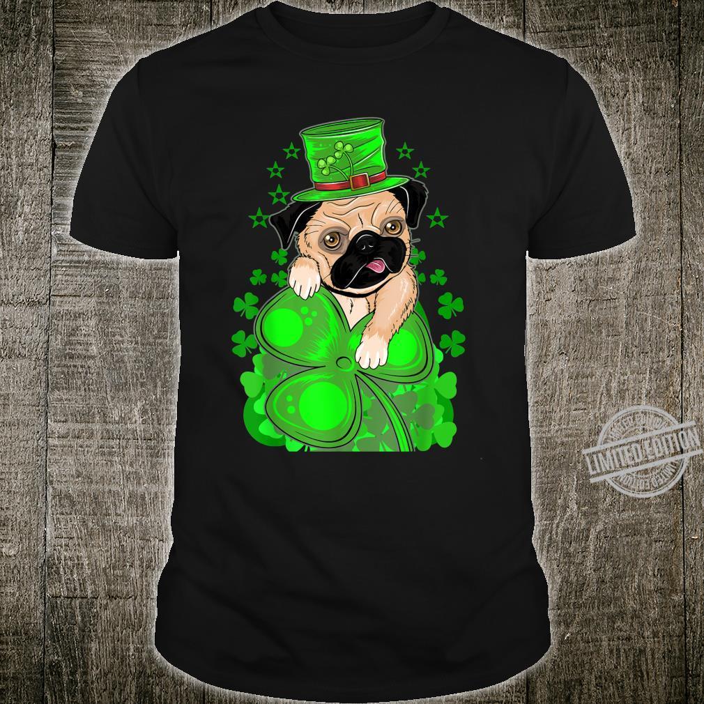 Puppy Pug Leprechaun Dog St. Patricks Day Boys Shirt