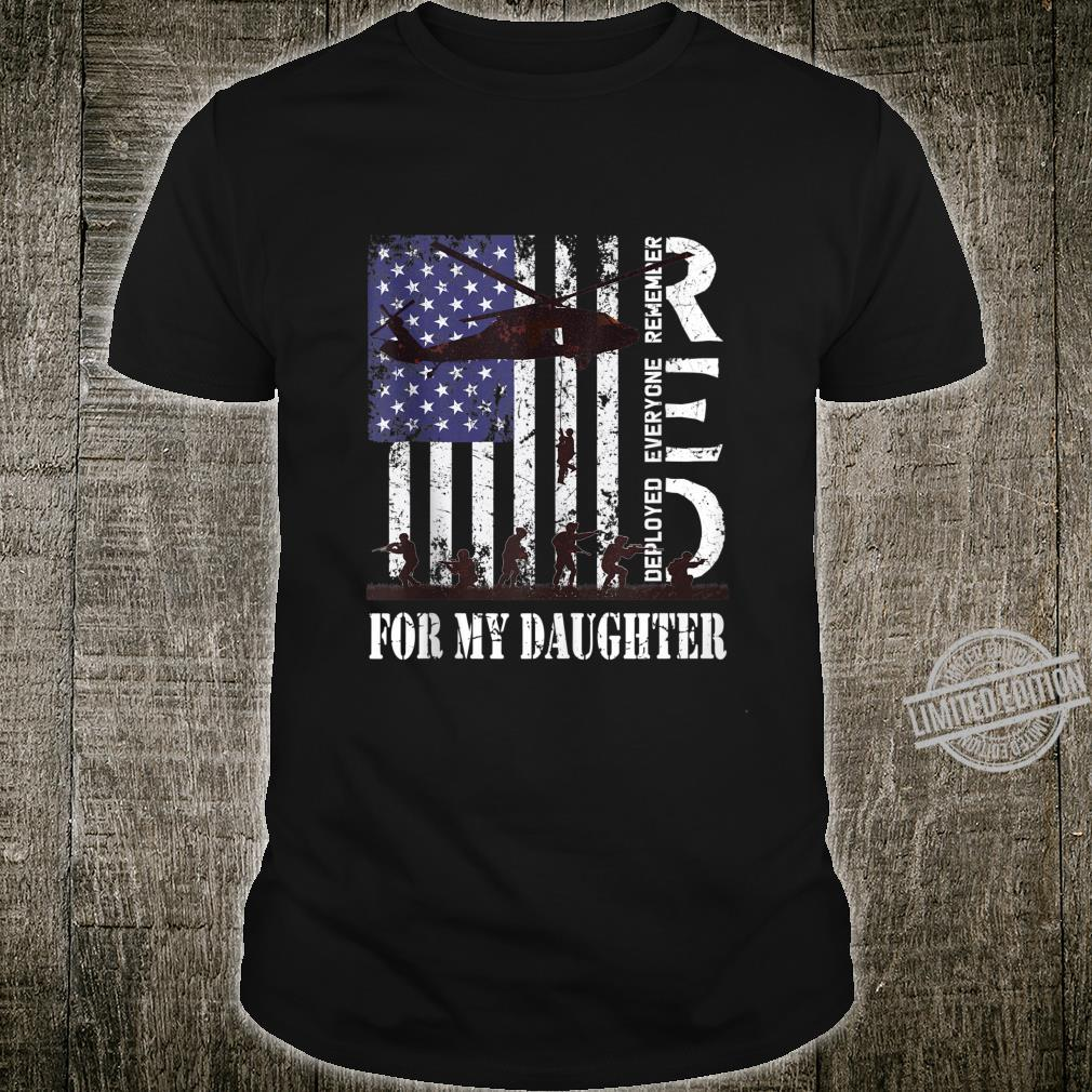 RED Friday For My Deployed Daughter US Flag Military Veteran Shirt