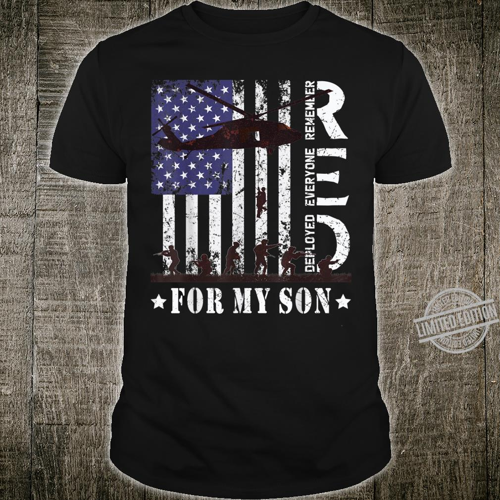 RED Friday For My Deployed Son US Flag Military Army Veteran Shirt