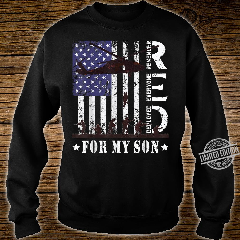 RED Friday For My Deployed Son US Flag Military Army Veteran Shirt sweater