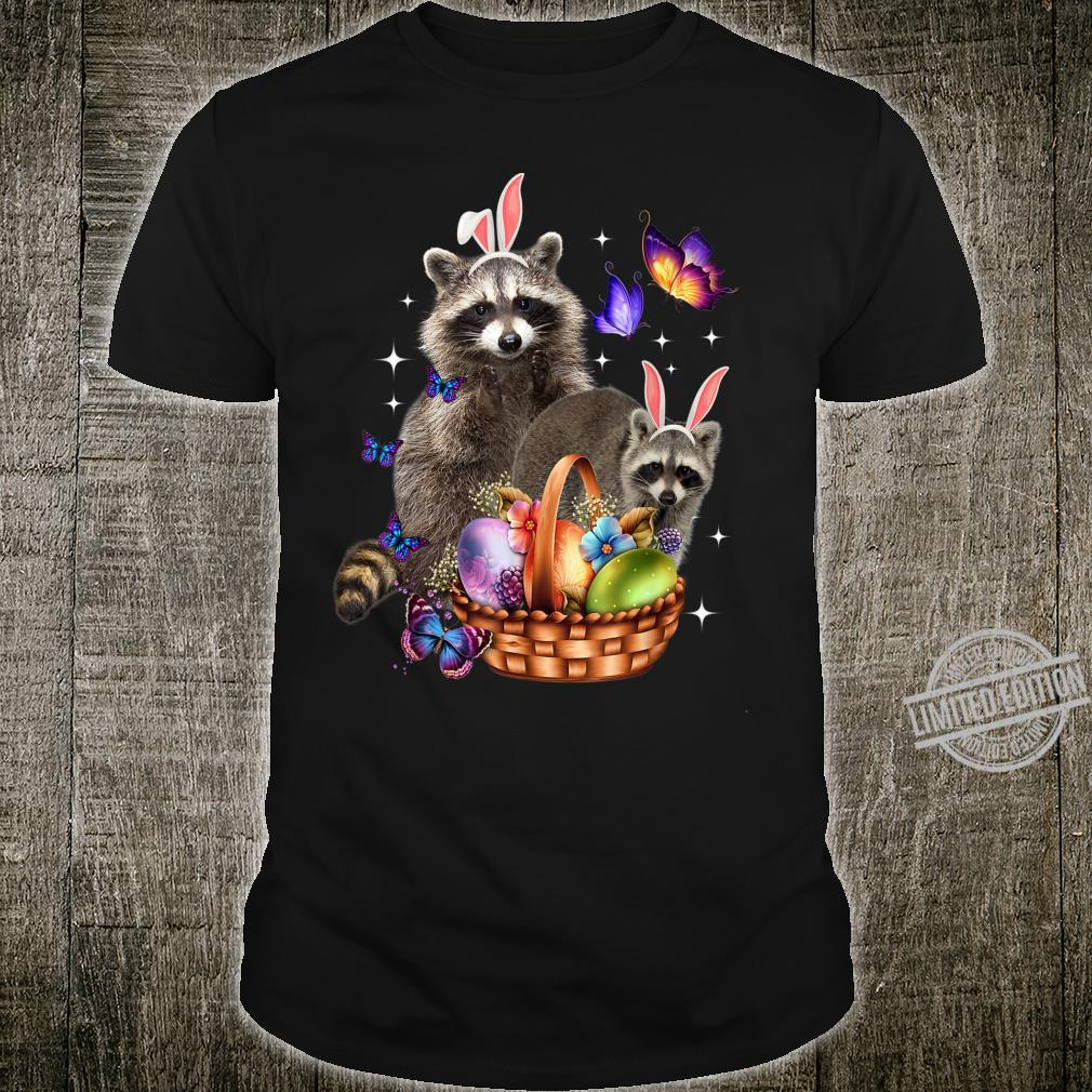 Raccoons Easter Day Costume Love Egg Bunny Happy Easter Shirt