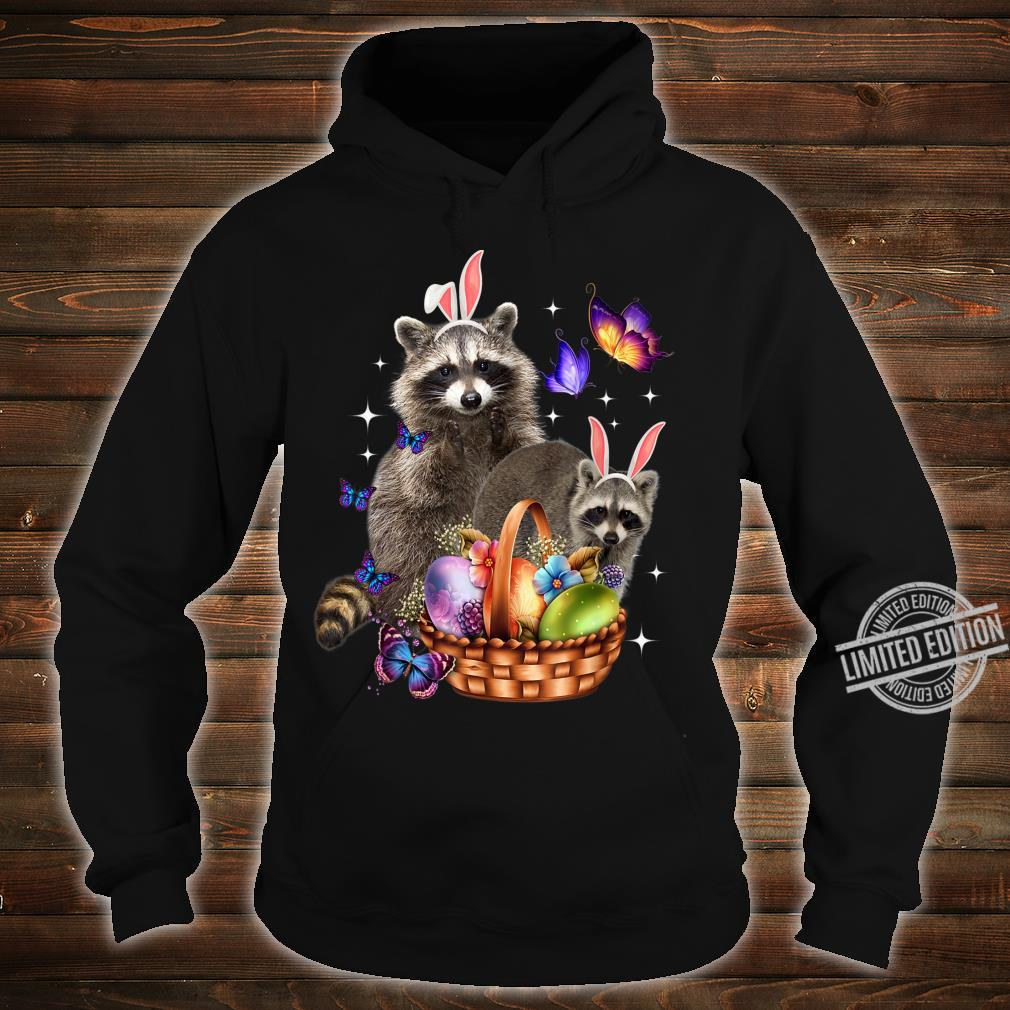 Raccoons Easter Day Costume Love Egg Bunny Happy Easter Shirt hoodie