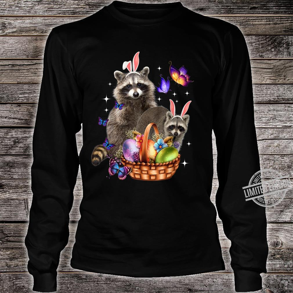 Raccoons Easter Day Costume Love Egg Bunny Happy Easter Shirt long sleeved