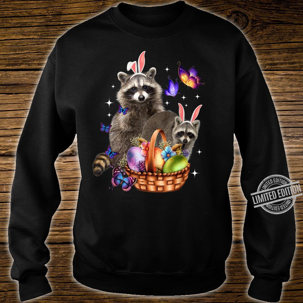 Raccoons Easter Day Costume Love Egg Bunny Happy Easter Shirt sweater