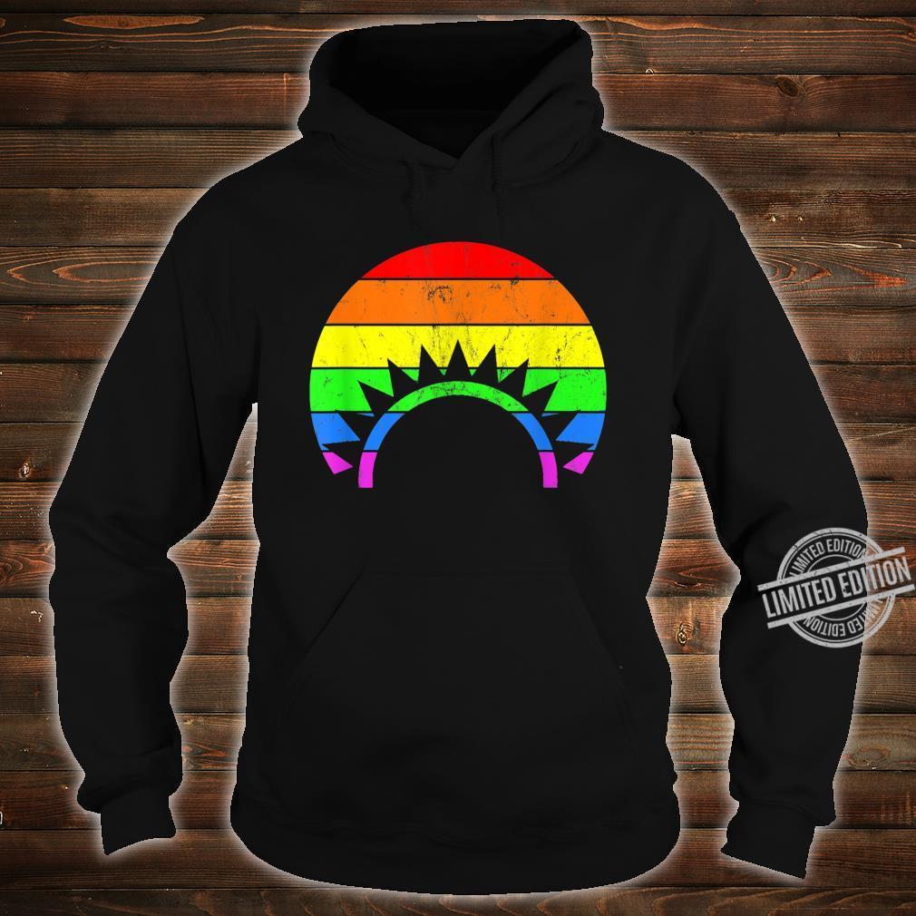 Rainbow Sunset LGBT Gay Pride Shirt hoodie