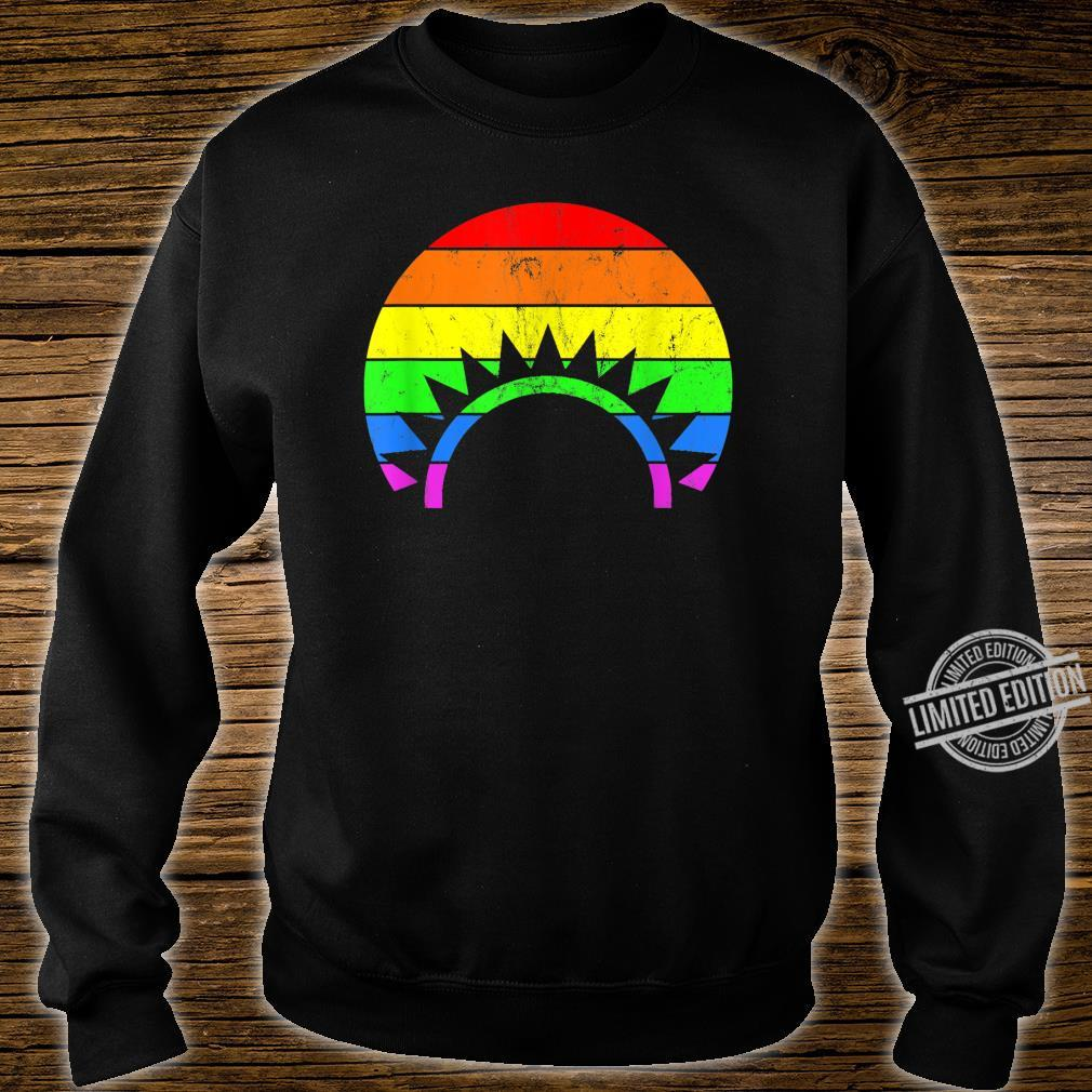 Rainbow Sunset LGBT Gay Pride Shirt sweater