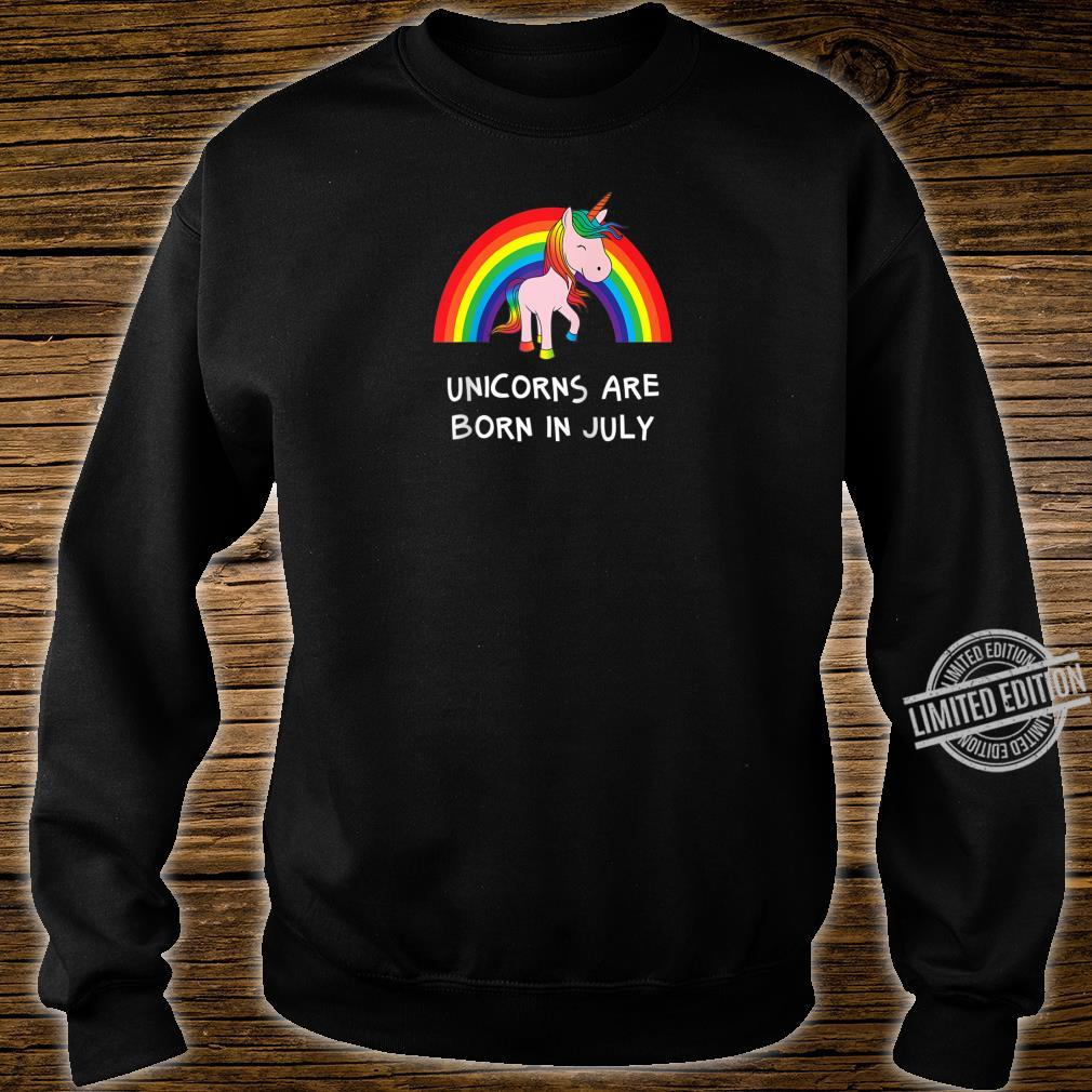 Rainbow Unicorn Shirt For People Born In July Birthday Shirt sweater