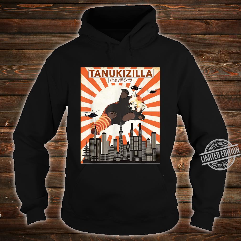 Rare Tanukizilla Kicking Kaiju Saves Tokyo Red Panda Shirt hoodie
