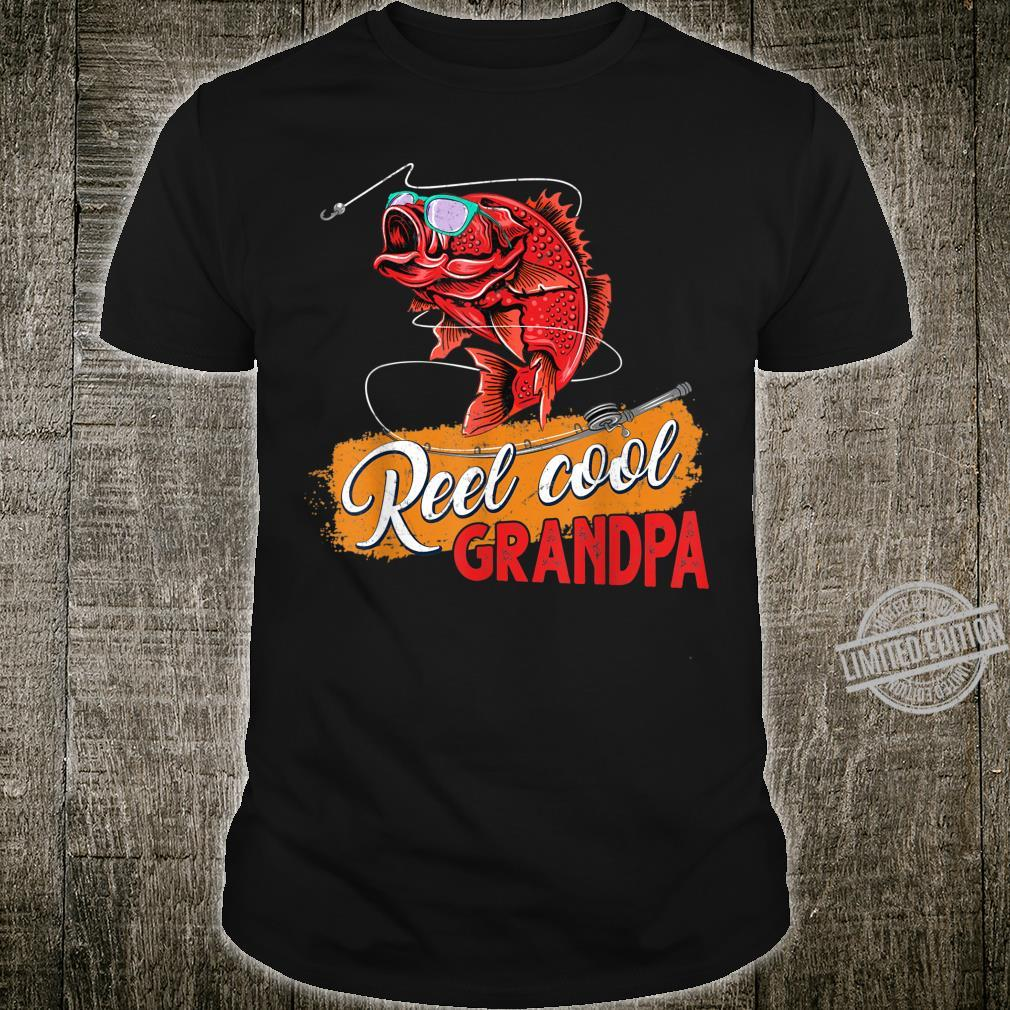 Reel Cool Grandpa Fishing Shirt For Fathers Day Shirt