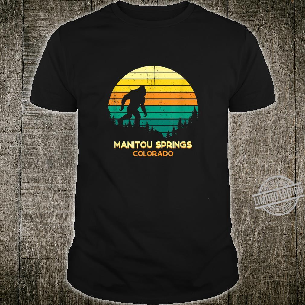 Retro Bayou Manitou Springs, Colorado Bigfoot Souvenir Shirt