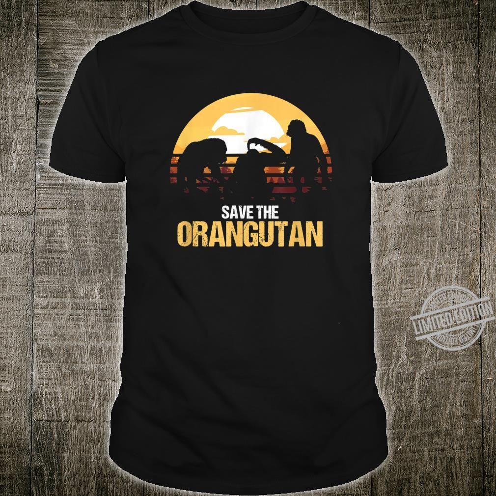 Retro Orangutan Primatenaffe Schimpanse Gorilla Shirt