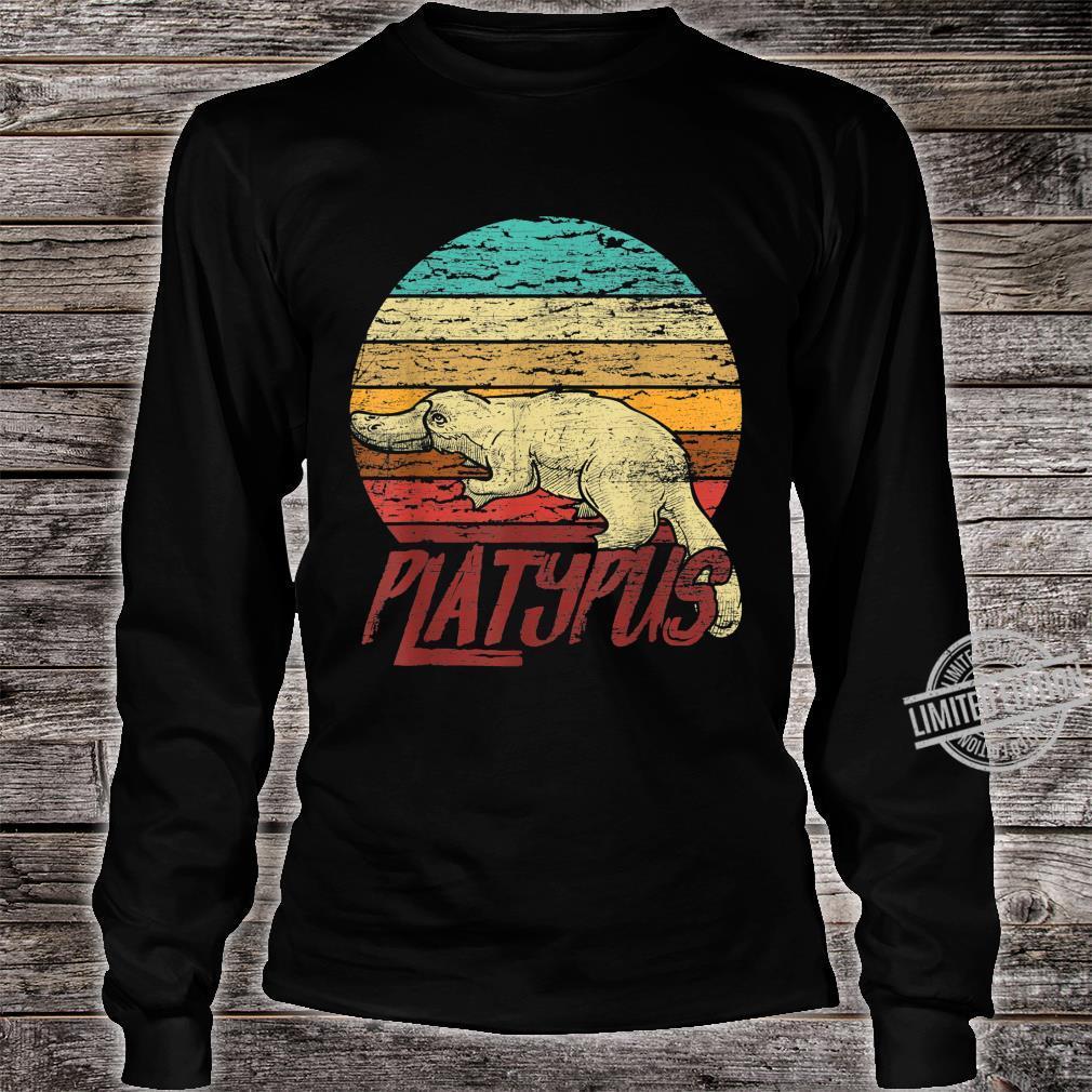 Retro Platypus Shirt long sleeved