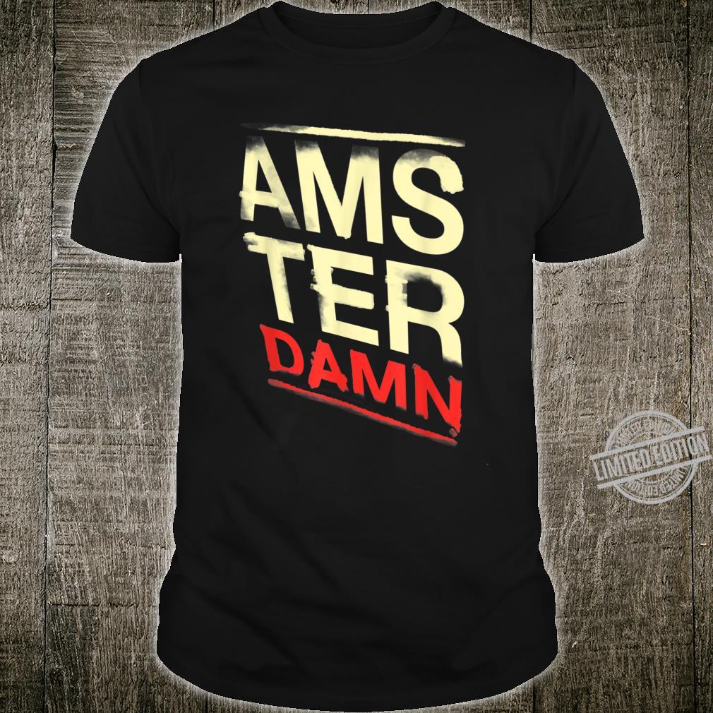 Retro Vintage Amsterdam, lustiger Amsterdamer Schriftzug Shirt