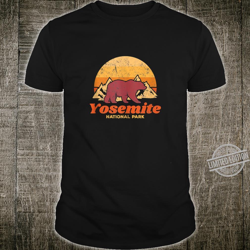 Retro Vintage Bear Yosemite National Park Shirt