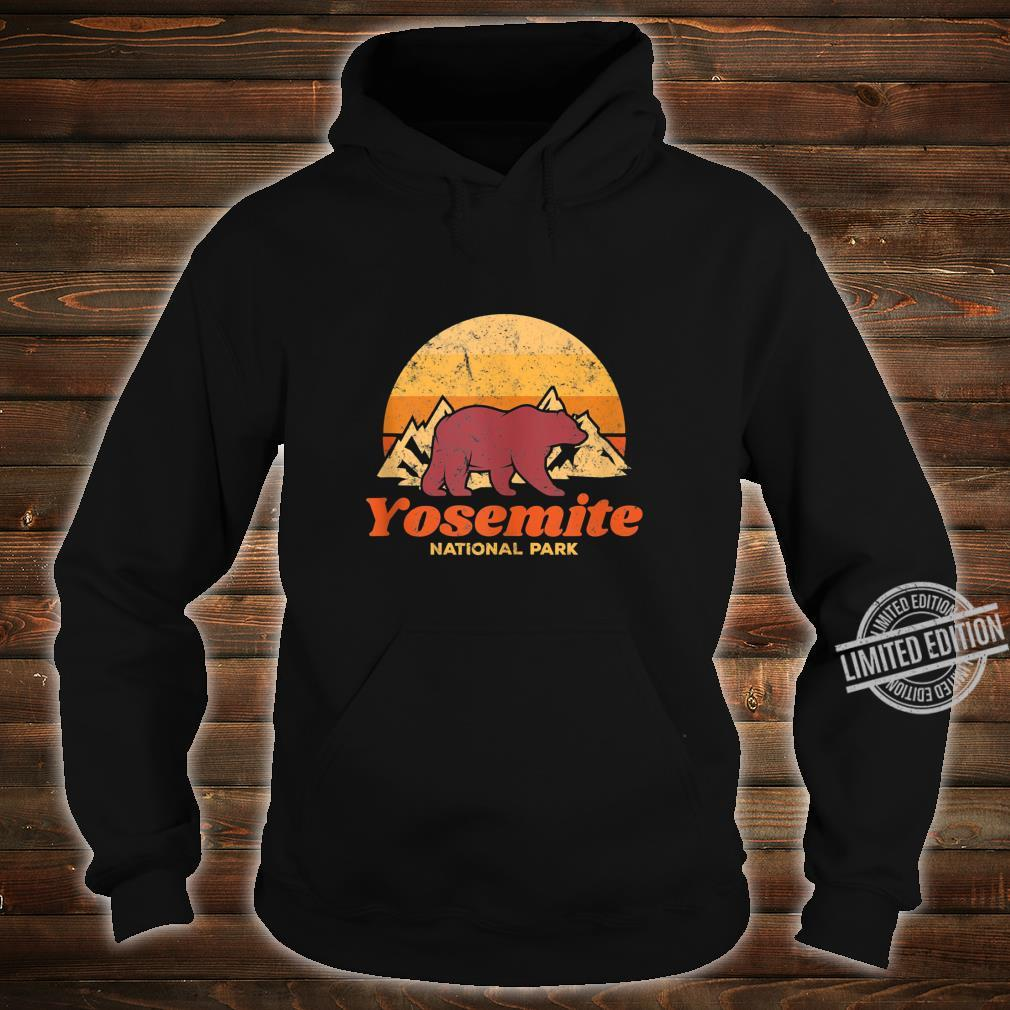 Retro Vintage Bear Yosemite National Park Shirt hoodie