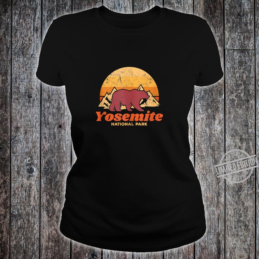 Retro Vintage Bear Yosemite National Park Shirt ladies tee