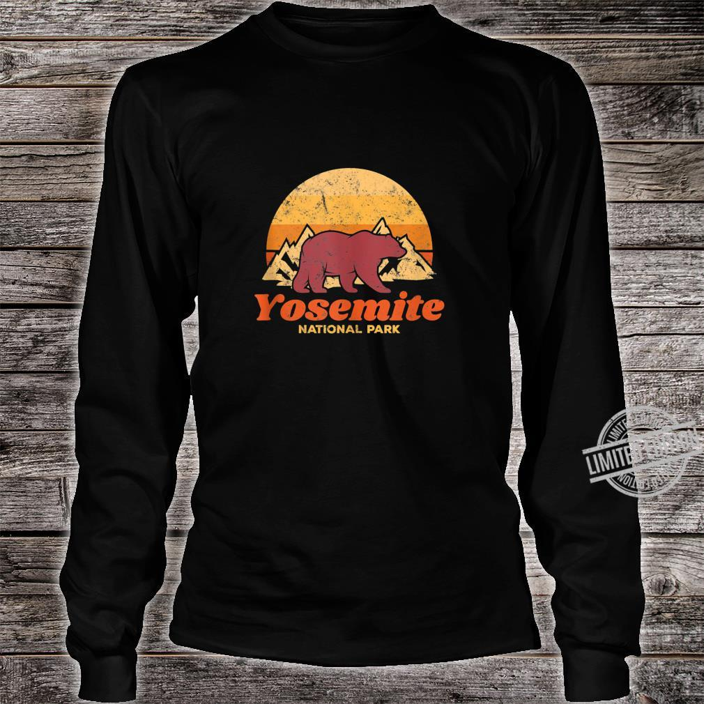 Retro Vintage Bear Yosemite National Park Shirt long sleeved