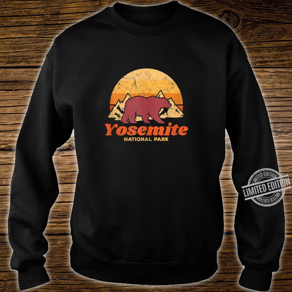 Retro Vintage Bear Yosemite National Park Shirt sweater