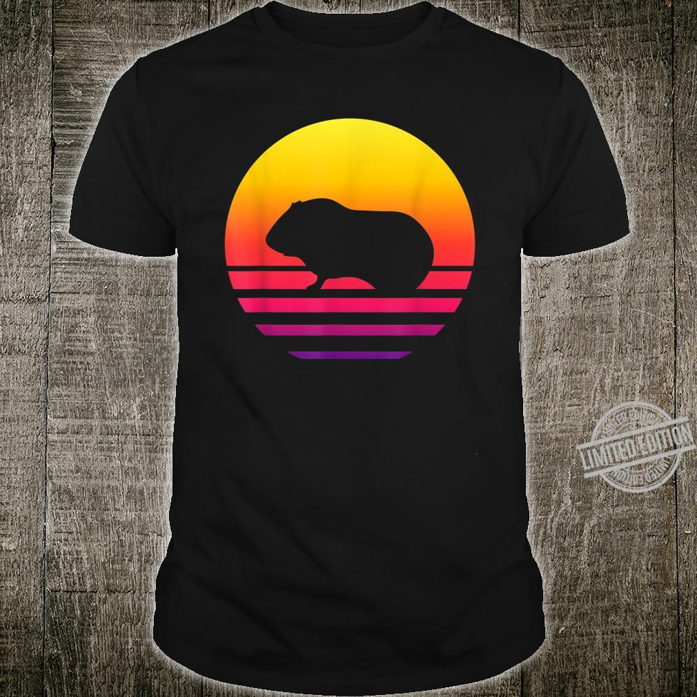 Retro Vintage Guinea pigGraphic Sunset Shirt