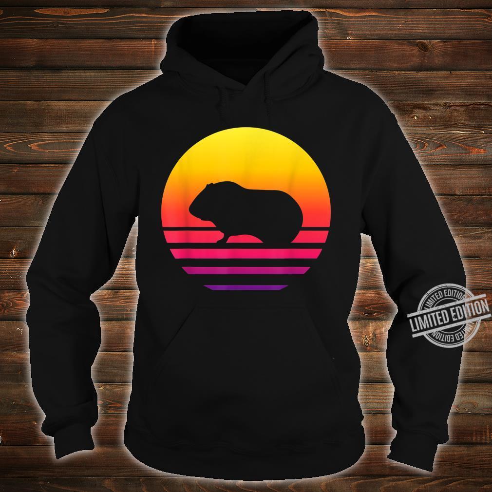 Retro Vintage Guinea pigGraphic Sunset Shirt hoodie