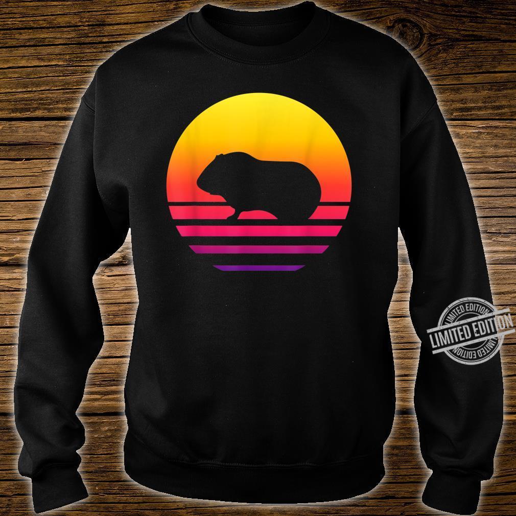 Retro Vintage Guinea pigGraphic Sunset Shirt sweater