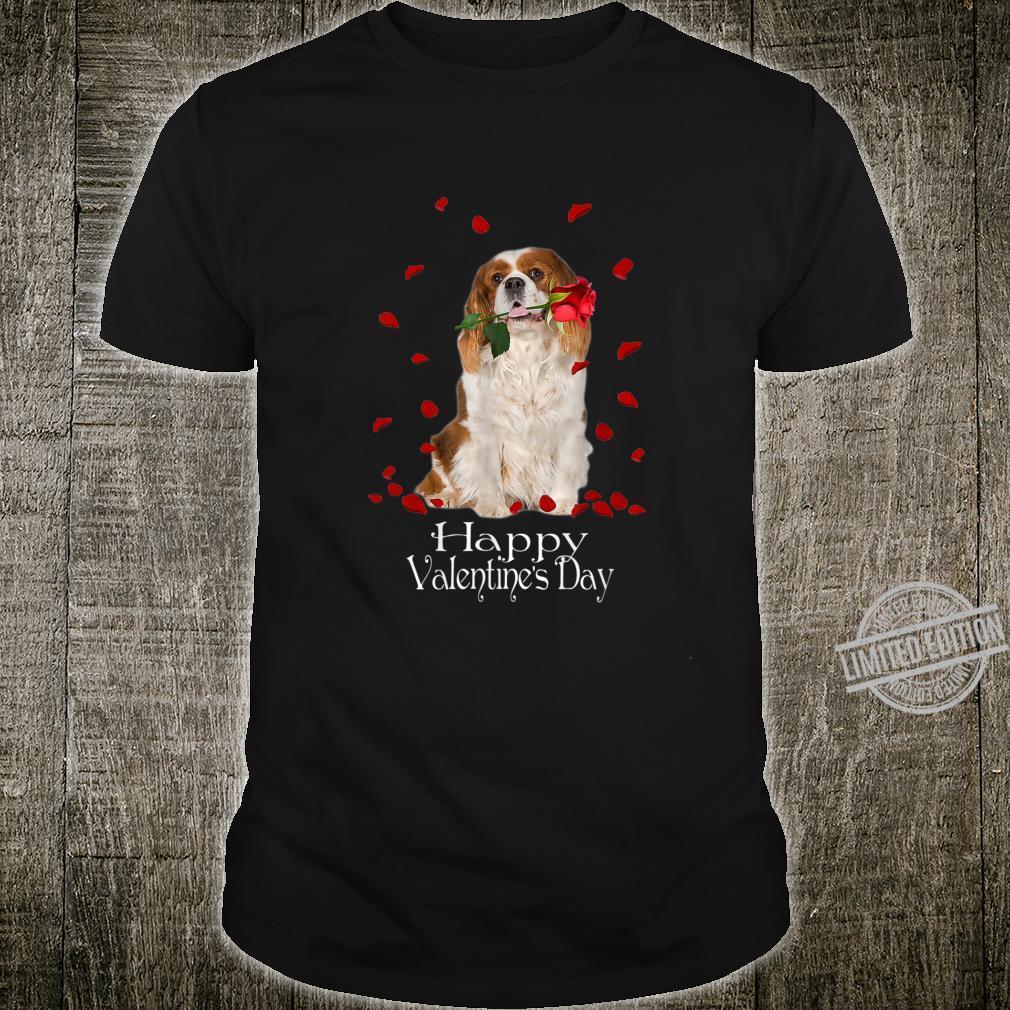 Rose Cavalier King Charles Spaniel Spaniel Happy Valentine's Shirt