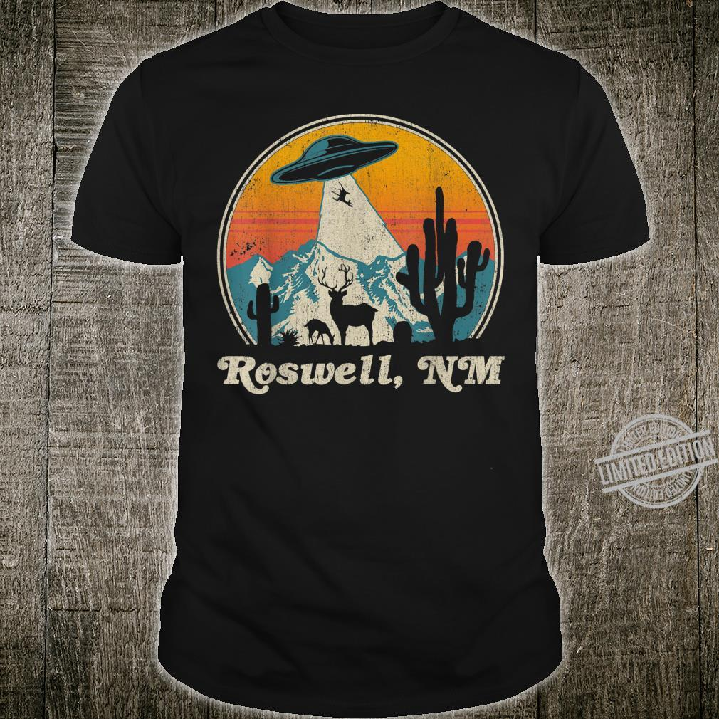 Roswell New Mexico UFO Sunset Silhouette Shirt