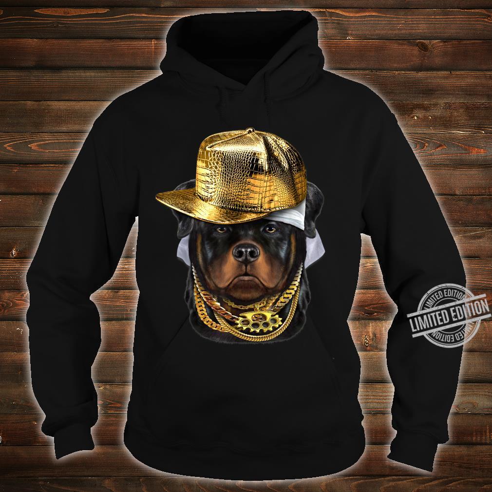 Rottweiler Hund im Kappe als Hip Hop Rapper Shirt hoodie