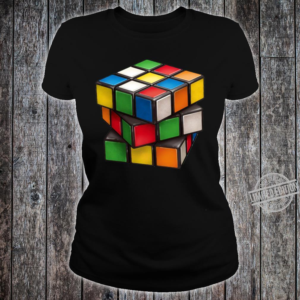 Rubiks Cube Shirt ladies tee