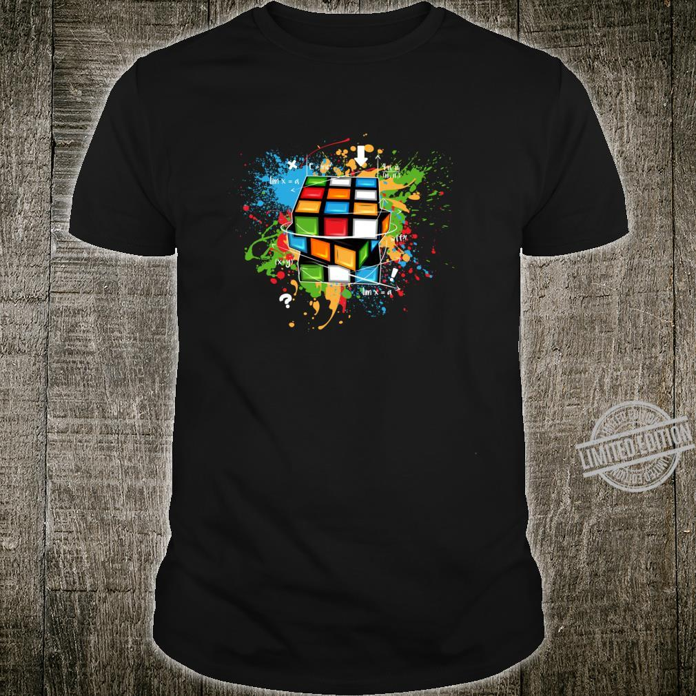Rubix Cube Watercolour Rubic Cube For Math Rubik Cube Shirt