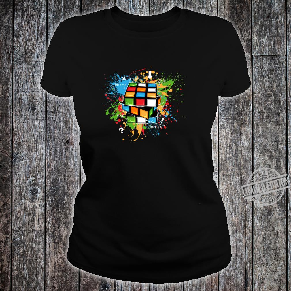 Rubix Cube Watercolour Rubic Cube For Math Rubik Cube Shirt ladies tee