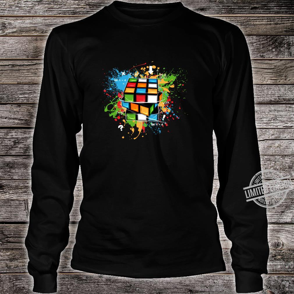 Rubix Cube Watercolour Rubic Cube For Math Rubik Cube Shirt long sleeved