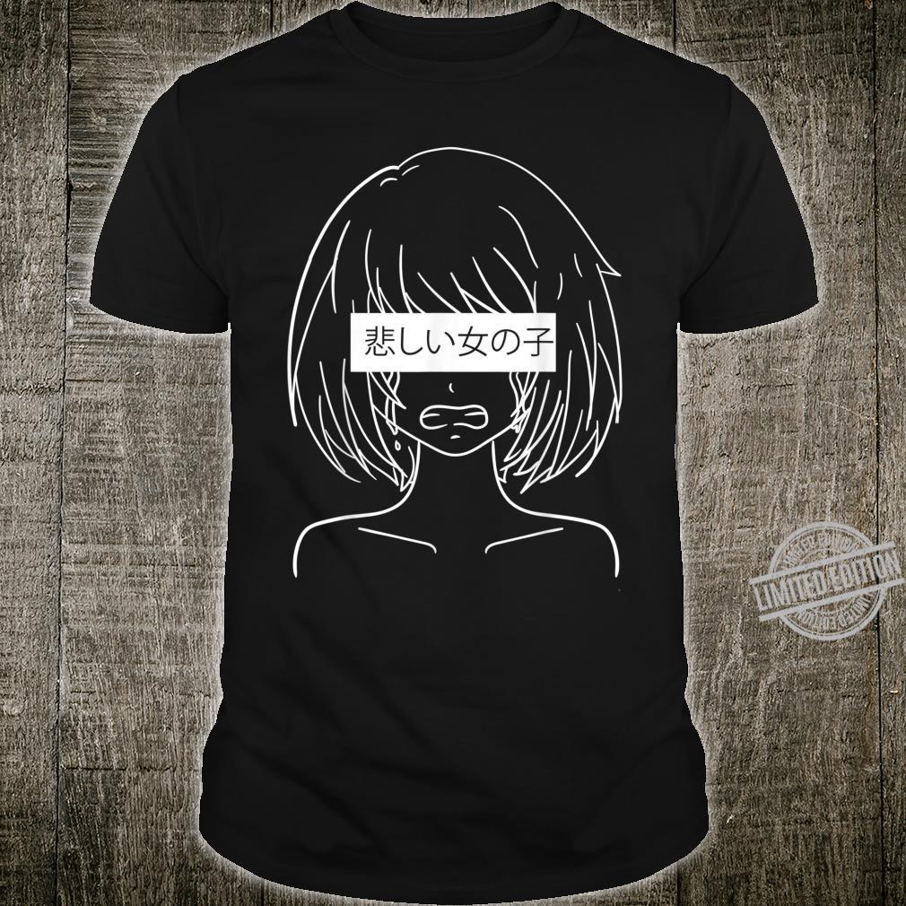Sad Anime Girl Manga Girl Japanese Anime Merch Shirt